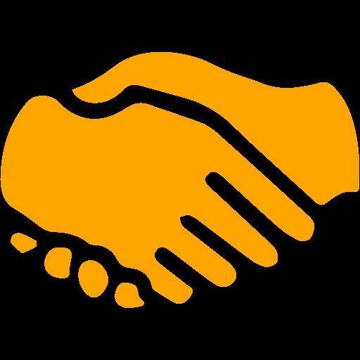Handshake clipart orange. Icon free icons