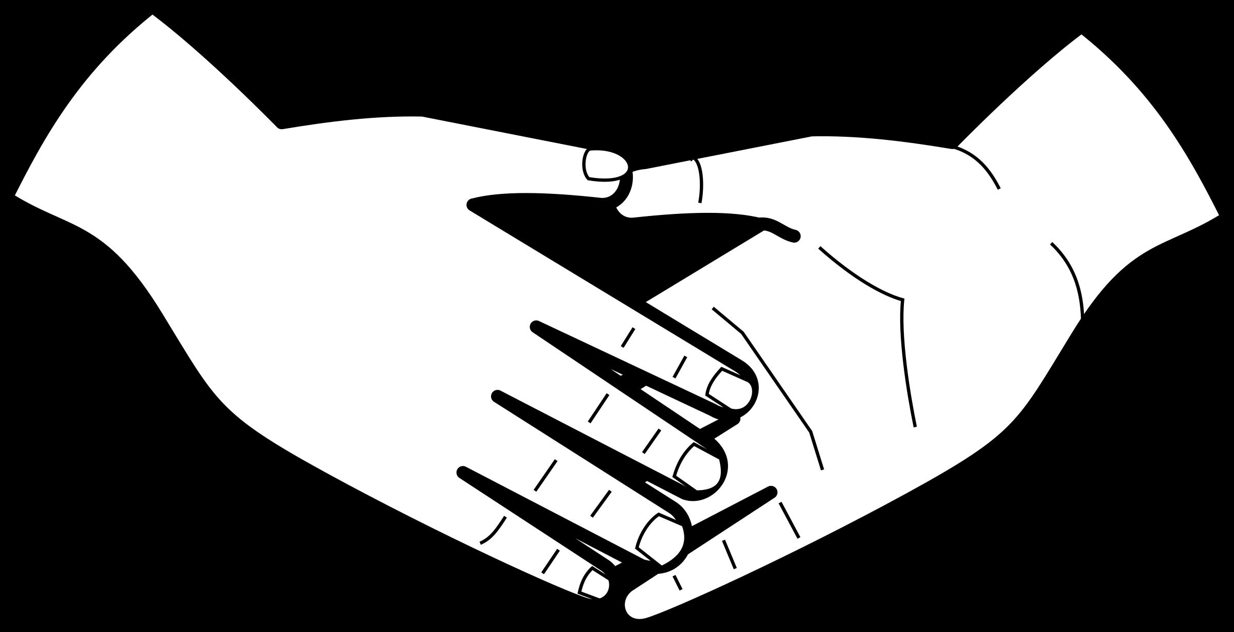 Handshake clipart outline. Shaking hands big image