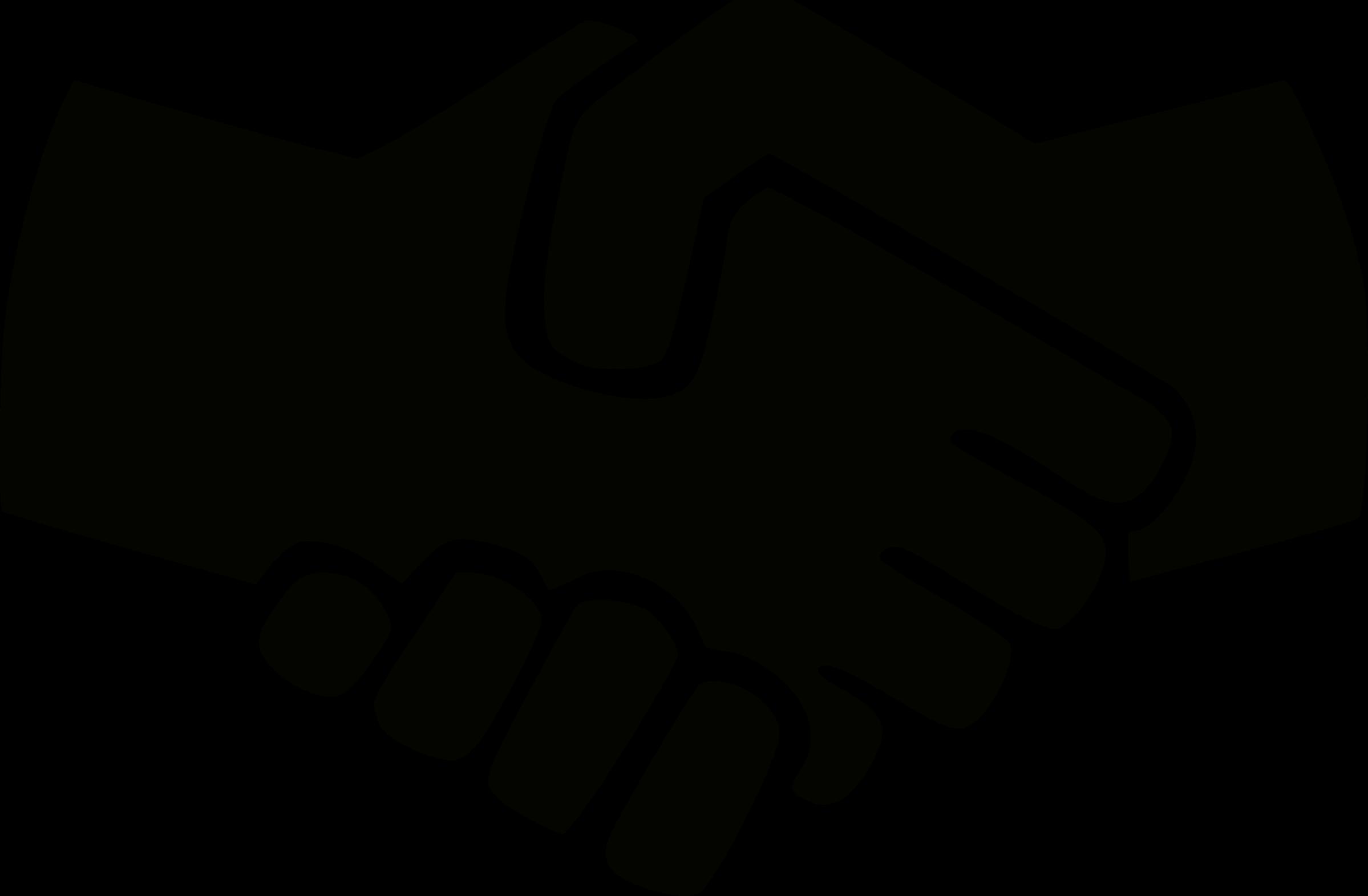 Black and white big. Handshake clipart outline