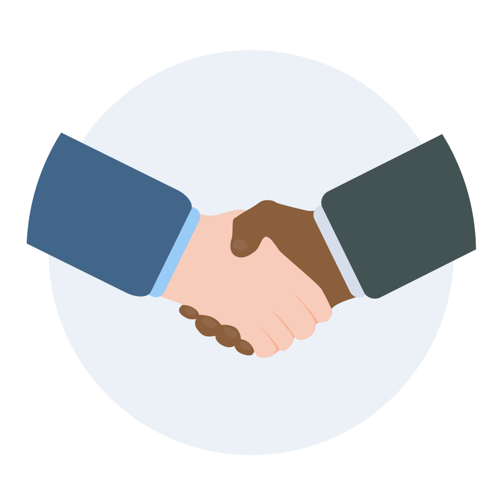 Empower your city what. Handshake clipart principled