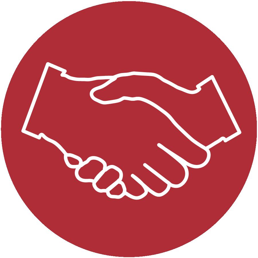 Handshake clipart red. Nai wheelhouse services icon
