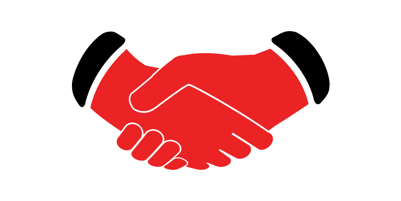 Handshake clipart red. Client focused icon dulles