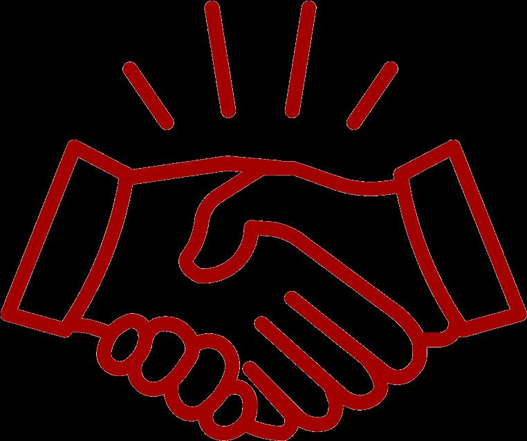 Handshake clipart red. Icon white hands shaking