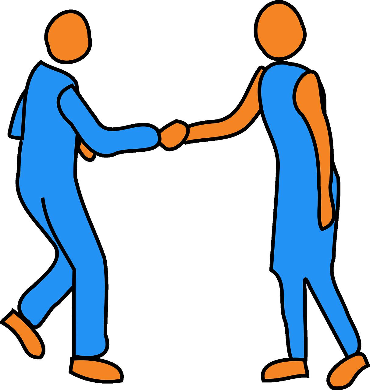 Handshake clipart retro. Man woman friends transparent