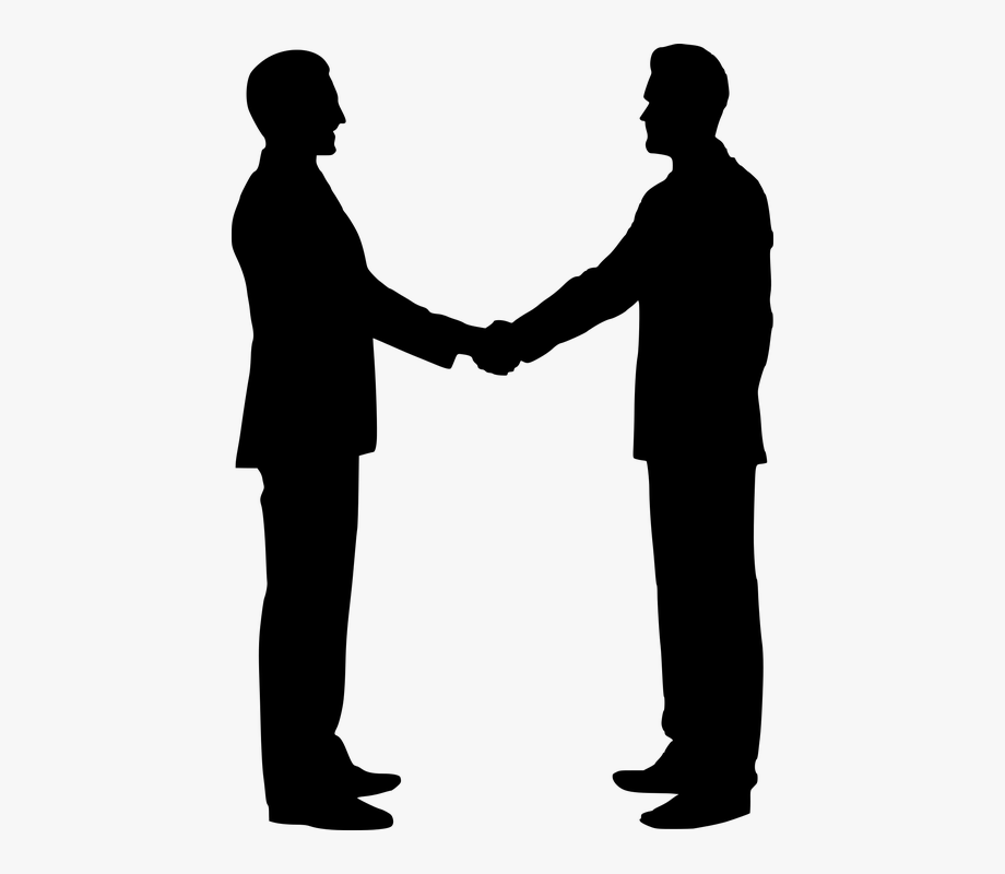 Free photo shaking hands. Handshake clipart silhouette