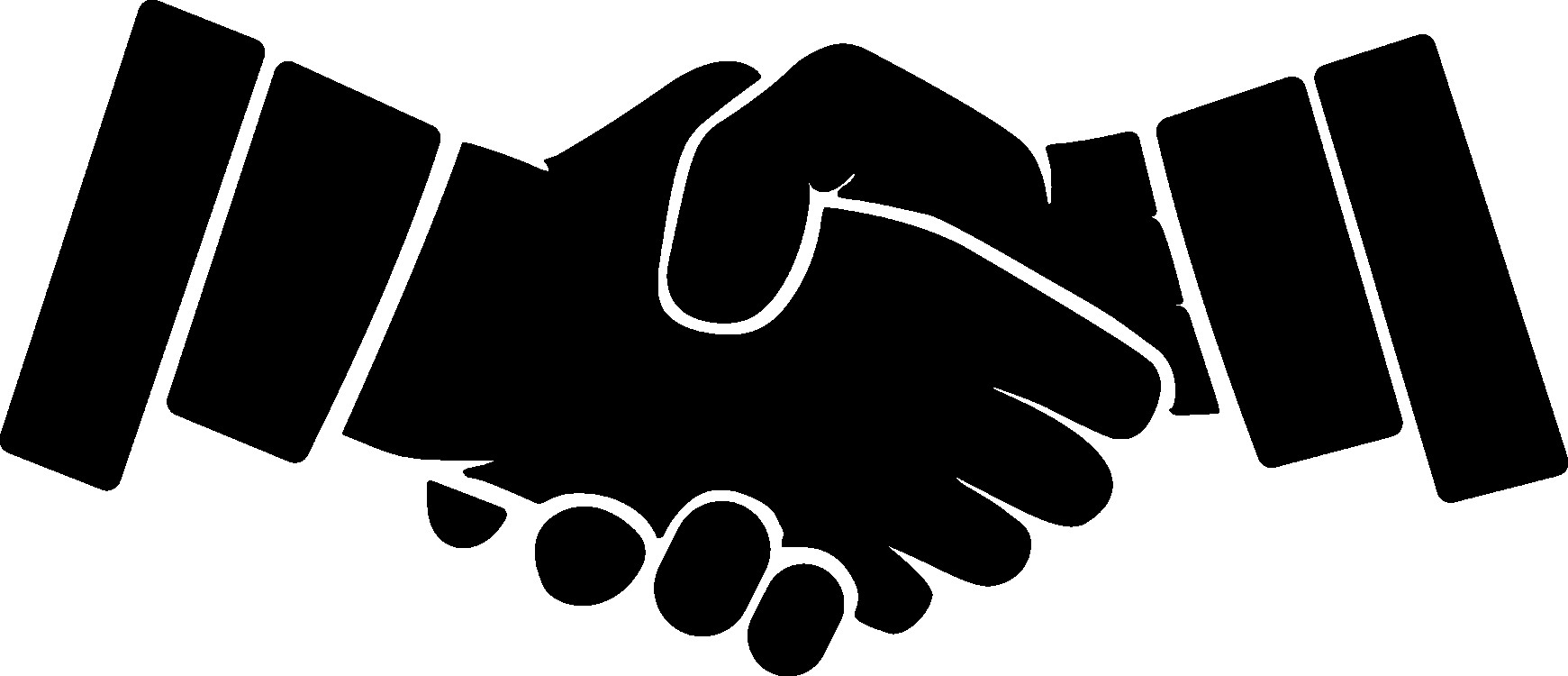 Handshake clipart silhouette.  sketch of business