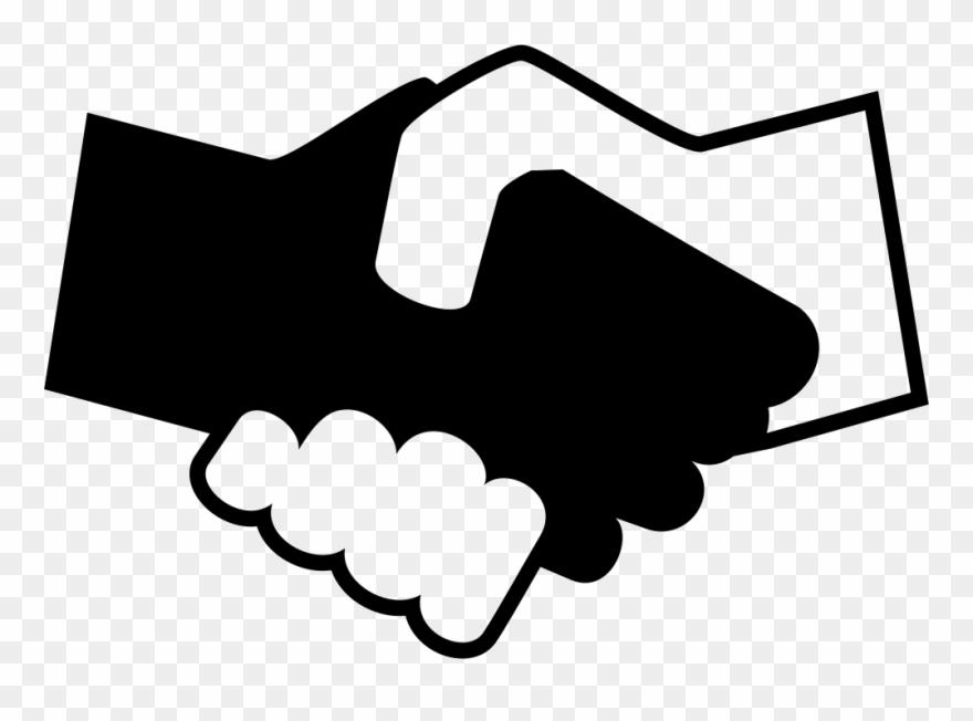 Handshake clipart silhouette. Black and white shaking