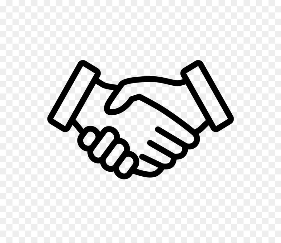 Handshake clipart simple. Drawing of two hands