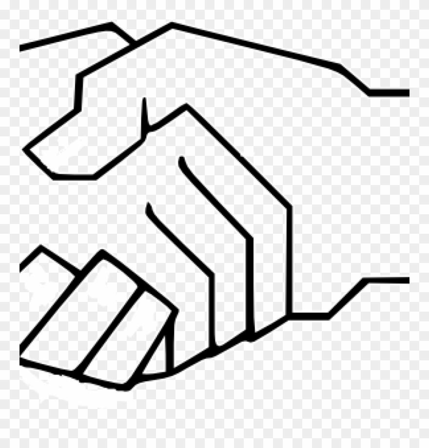 Shake hand hands . Handshake clipart simple