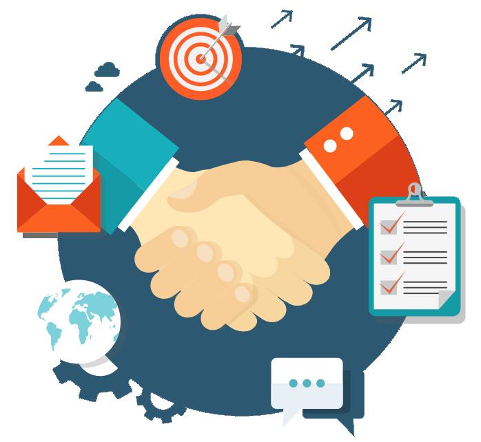 Become a partner rechner. Handshake clipart solution