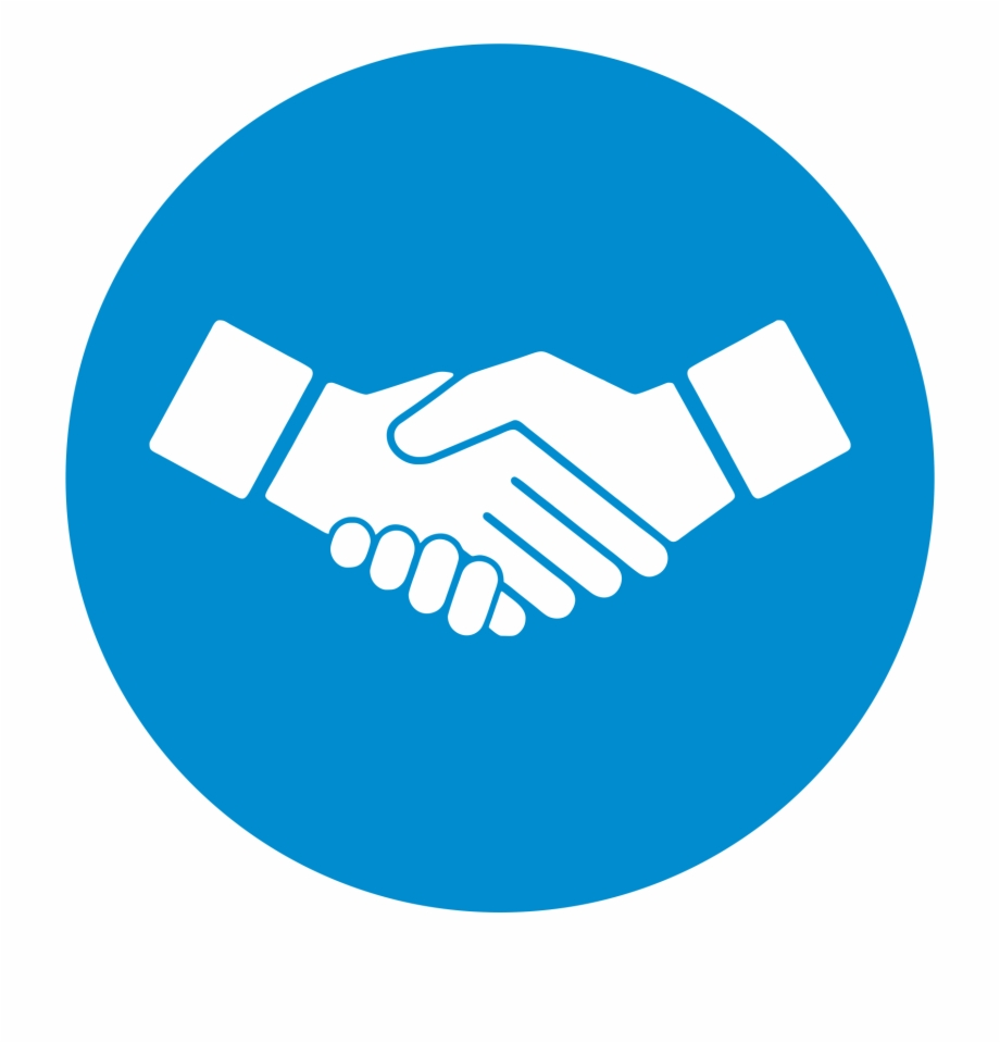 Handshake clipart solution. Digicloudsolutions solutions icon blue