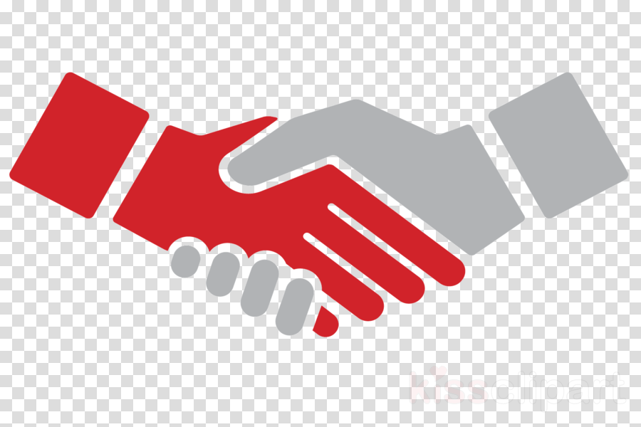 Handshake clipart support. Logo red text hand