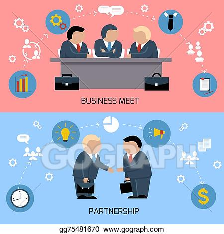 Eps vector concept of. Handshake clipart table