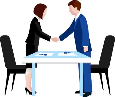 Handshake clipart table. Shaking hands across integra