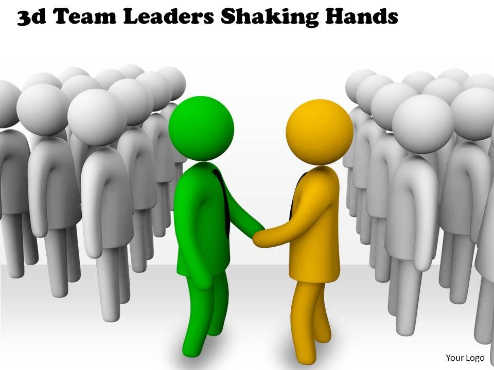 Handshake clipart team.  d leaders shaking