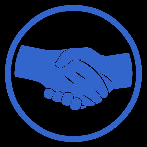 Handshake clipart truce. Rp hammer fall factions
