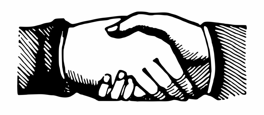 Holding hands shaking . Handshake clipart two