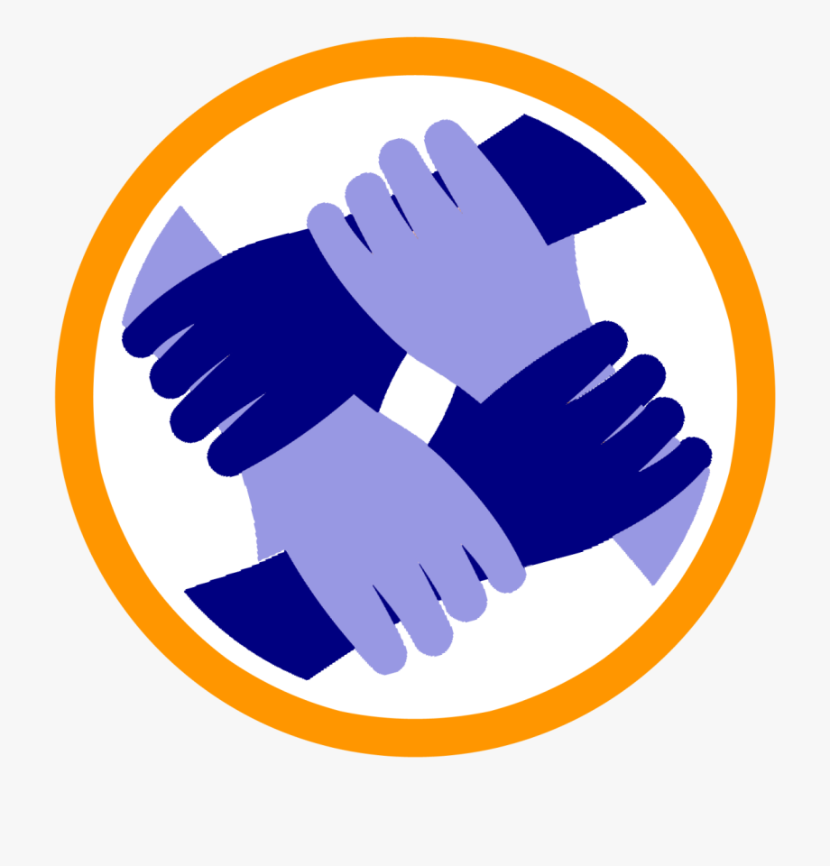 Handshake clipart united. Society people helping hand