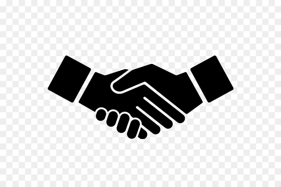 Hand cartoon black text. Handshake clipart unity