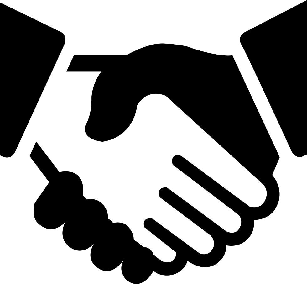 Handshake clipart vector. Cooperation svg png icon