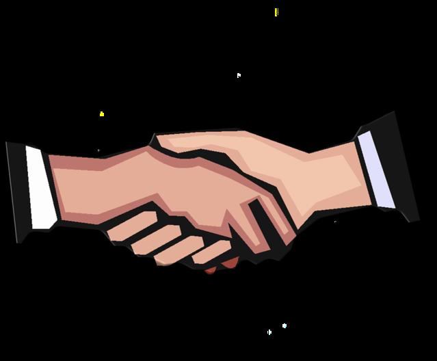 Doing well vs good. Handshake clipart wedding