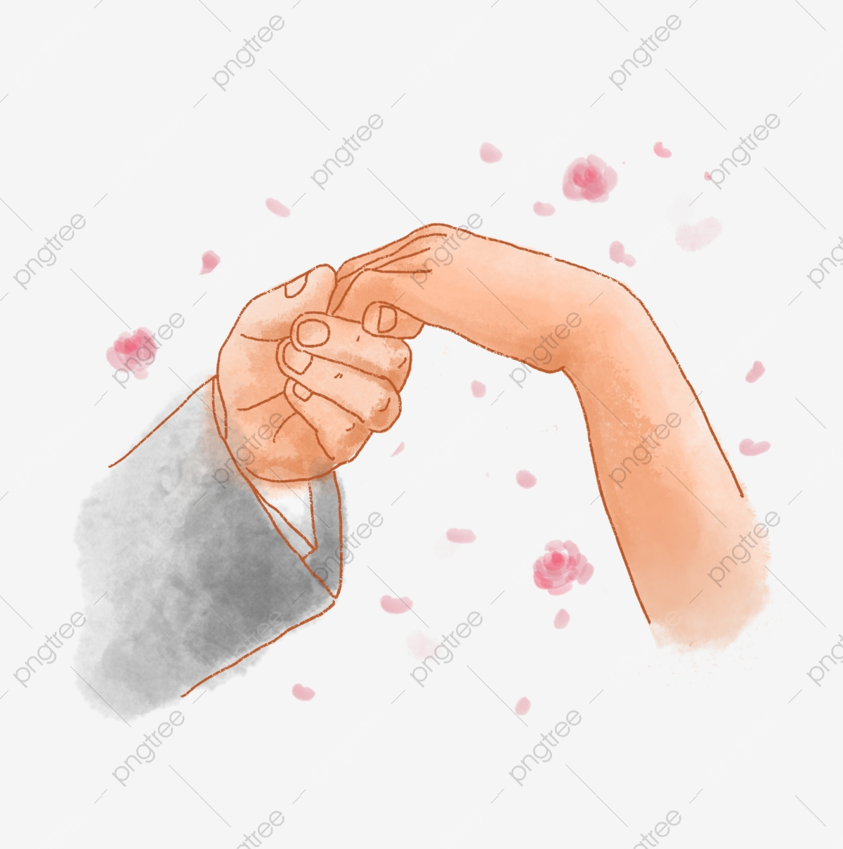 Romantic hand in png. Handshake clipart wedding