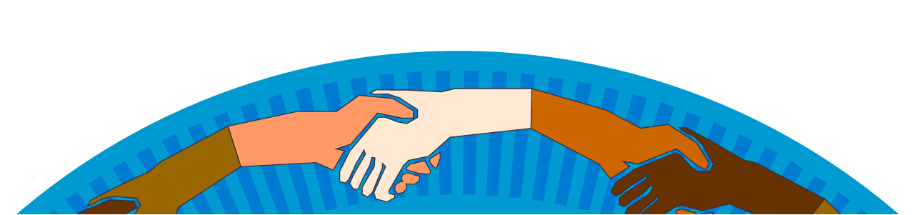 Home page a hand. Handshake clipart welcome