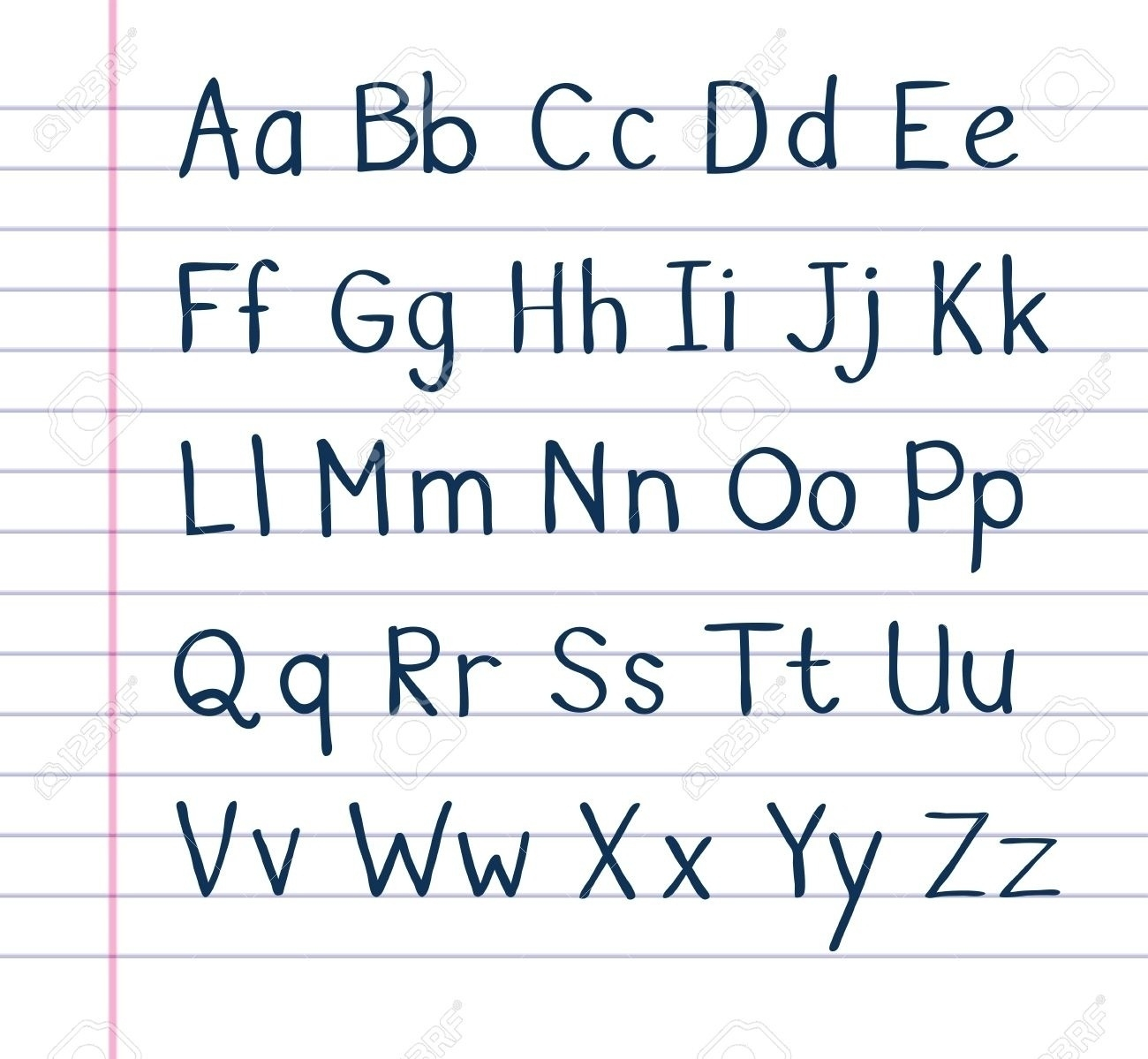 Neat letters. Handwriting clipart