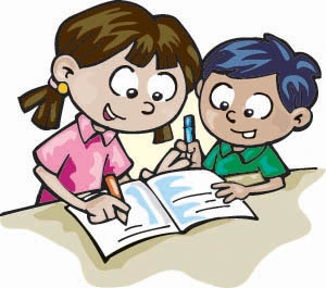 Writer clipart partners. Children writing free download