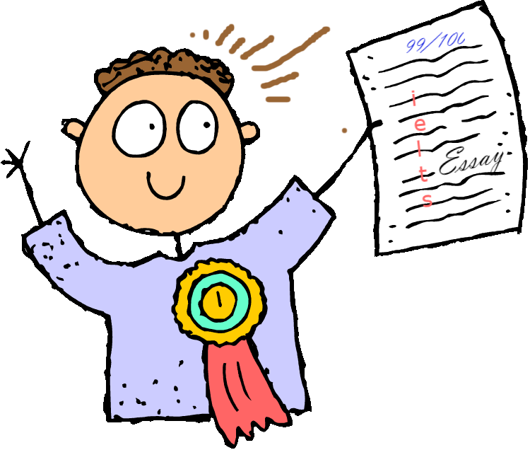 Writer clipart written exam. Ielts essay writing tips