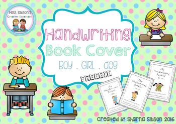 Handwriting clipart handwriting book. Covers