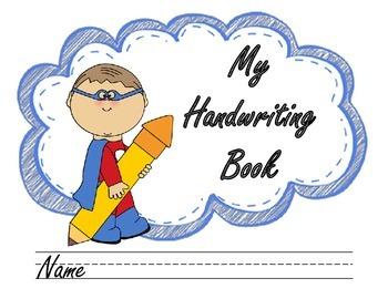 Cover . Handwriting clipart handwriting book