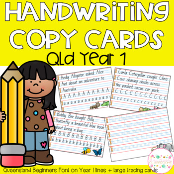 Copy cards queensland beginners. Handwriting clipart independent writing