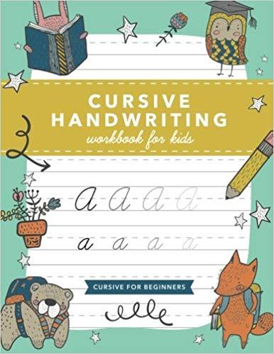 Amazon com cursive workbook. Handwriting clipart lets practice