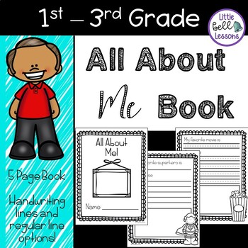 Book all about me. Handwriting clipart opinion writing