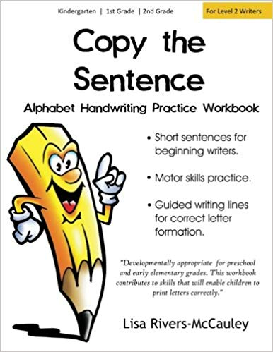 Copy the alphabet penmanship. Handwriting clipart sentence