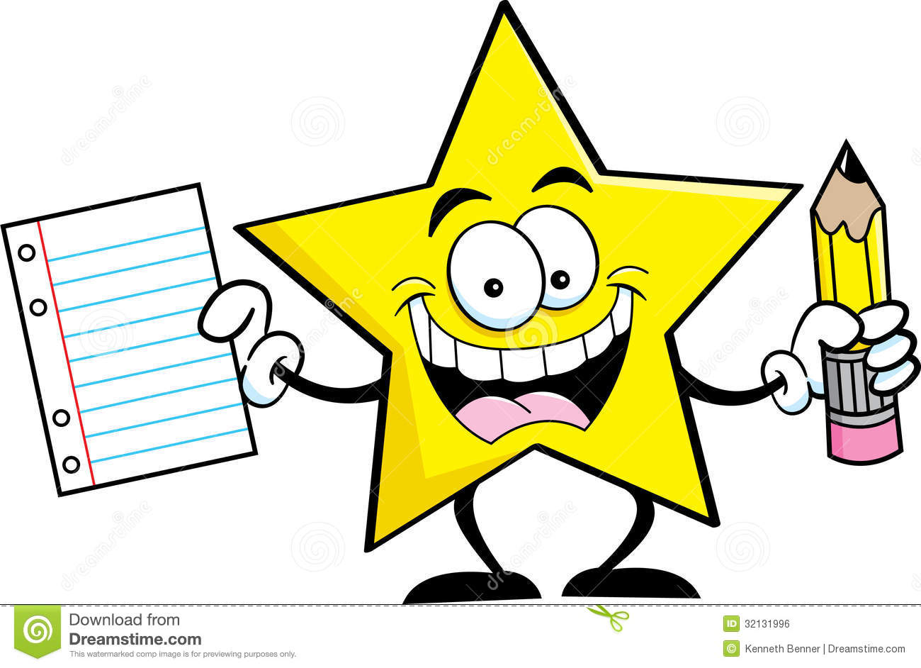 Handwriting clipart star. Pencil and paper images