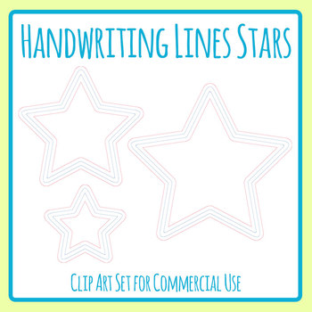 Beginner lines shapes for. Handwriting clipart star