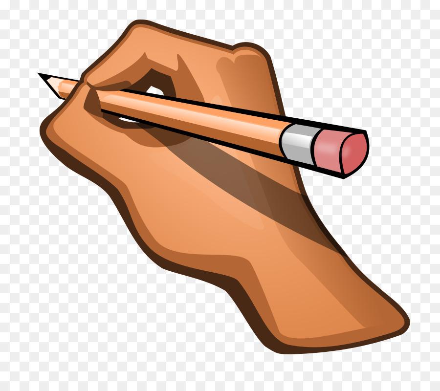 Handwriting clipart working hand. Writing cartoon graphics transparent