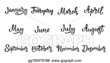 Handwriting clipart writing name. Eps illustration handwritten names