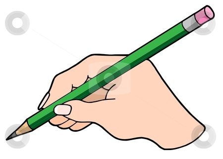 Pencil writing clip art. Handwriting clipart writter