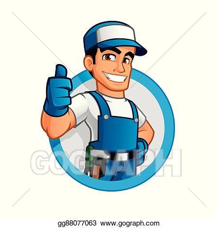 Handyman clipart. Vector art drawing gg