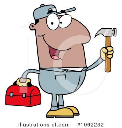 Handyman clipart. Illustration by hit toon
