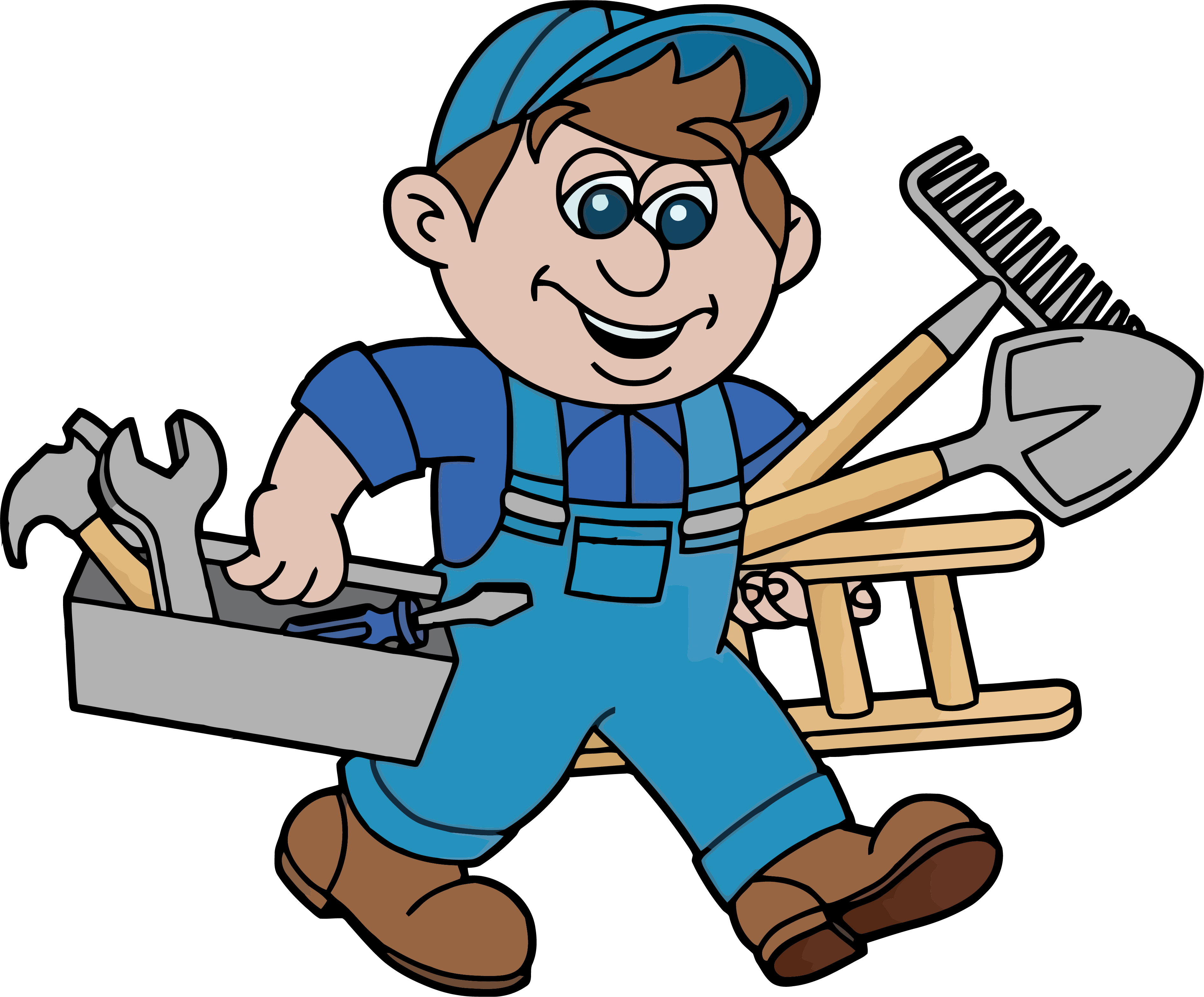 Glasgow services advertising home. Handyman clipart