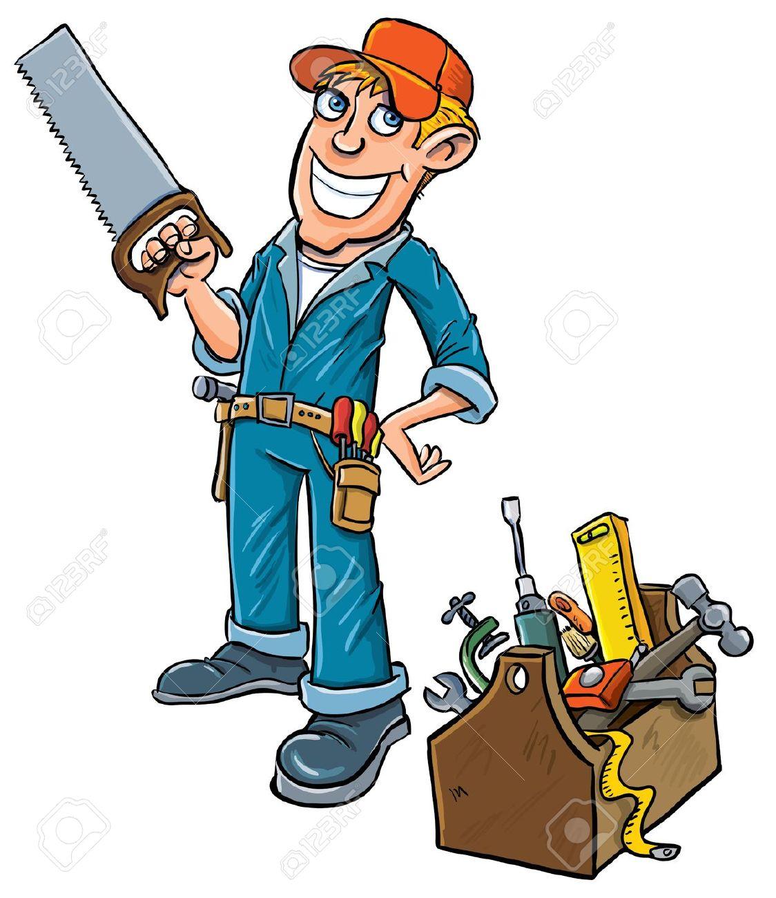 Handyman clipart. Cartoon