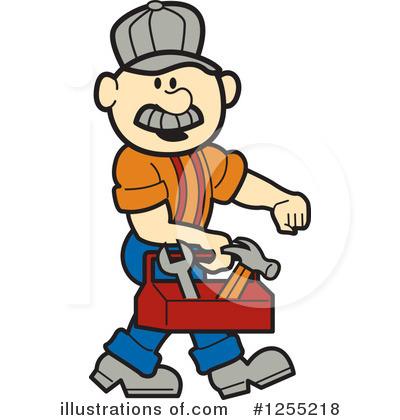 Handyman clipart. Illustration by andy nortnik