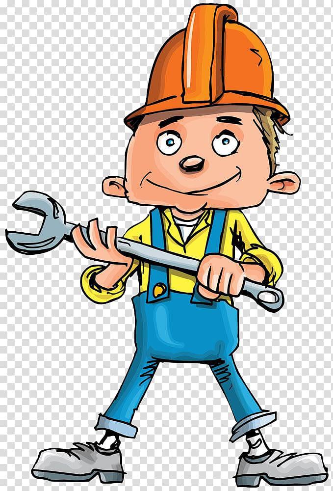Plumbing cartoon handyman a. Plumber clipart worker