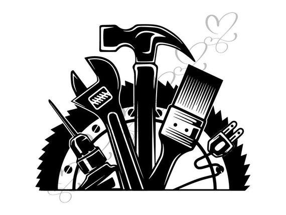 Handyman clipart hammer screwdriver. Wrench repair fix hardware
