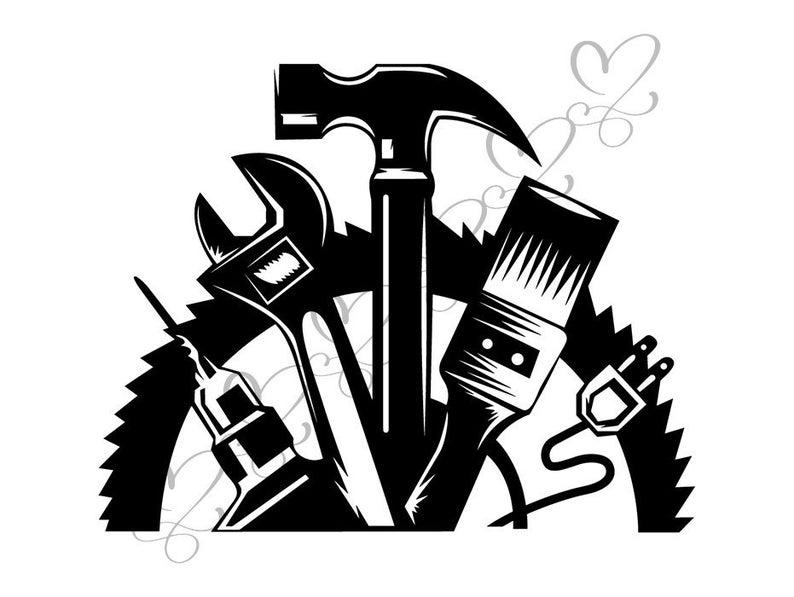 Wrench repair fix hardware. Handyman clipart hammer screwdriver