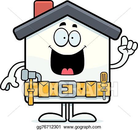 Handyman clipart home improvement. Vector stock cartoon idea